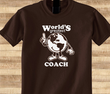 Pop Culture Trendy World's greatest coach Football Basketball Baseball soccer wrestling Tshirt Tee T-Shirt Ladies Youth Adult Unisex - Animetee - 1