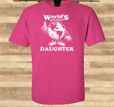 Pop Culture Trendy World's Greatest Daughter Tshirt Tee T-Shirt Ladies Youth Adult Unisex - Animetee - 1
