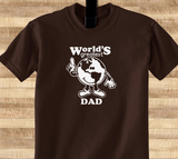 Pop Culture Trendy World's Greatest Dad Tshirt Tee T-Shirt Ladies Youth Adult Unisex - Animetee - 1
