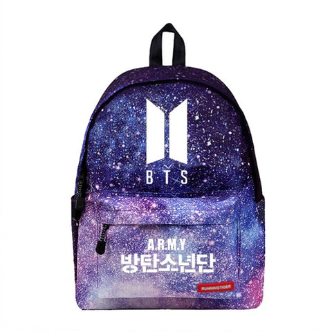 WISHOT BTS Backpack Galaxy School Bags Fashion Students Backpack Travel Bag for teenagers Stars Universe Space Printing High Quality Backpack Store 1
