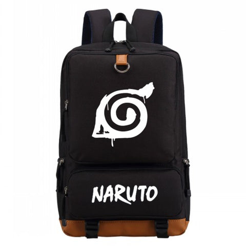 WISHOT Naruto write round eyes backpack fashion casual backpack teenagers Men women's Student School Bags travel Laptop Bag High Quality Backpack Store 1
