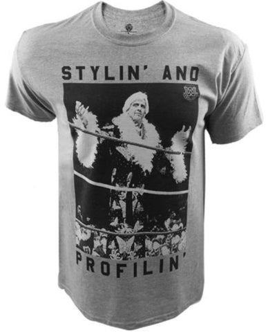 Officially Licensed WWE Nature Boy Ric Flair Stylin' and Profilin' Grey T-Shirt - Animetee