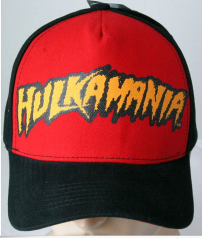 Officially Licensed Hulkamania Red WWE Licensed Baseball Cap Hat - Animetee