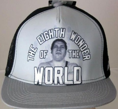 Officially Licensed WWE Legends Andre the Giant Snapback Trucker Hat Rock Hulk - Animetee