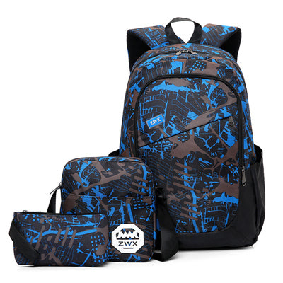 f7c964000b3e Boys Backpack Bag Waterproof oxford fabric orthopaedics school bags  Suitable for middle school students s for teenagers schoolbag AT_61_4