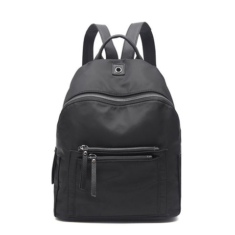 08046039cd Women Backpack Nylon Casual College Bookbag Female Retro Stylish Daily  Travel Bags for School Teenage Girls