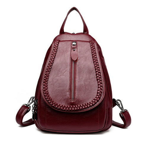 41535e289e Women Backpacks Leather Backpacks Bags Preppy Style Mochila Schoolbags For Teenagers  Girls Travel Bags Casual Student