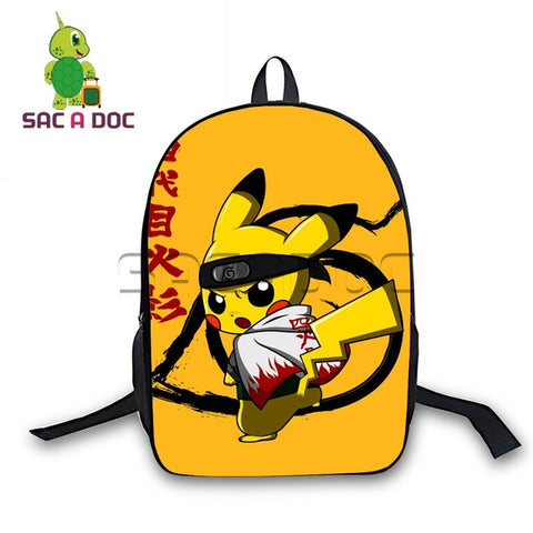 Women Men Anime Pokemon Cosplay Backpack Chibi Pikachu Naruto Backpack for Teenage Girls Boys School Bags Daily Backpack Shop3126025 Store 1