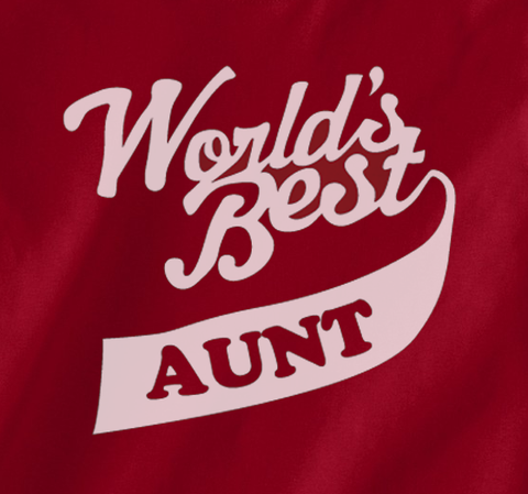 Pop Culture Trendy World's Greatest Best Auntie Aunt Tshirt Tee T-Shirt Ladies Youth Adult Unisex - Animetee - 2