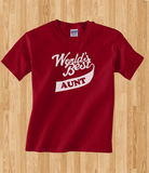 Pop Culture Trendy World's Greatest Best Auntie Aunt Tshirt Tee T-Shirt Ladies Youth Adult Unisex - Animetee - 1