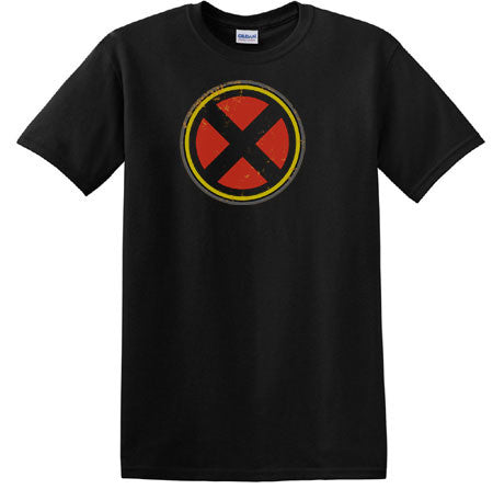Xmen Logo Symbol Distressed T-Shirt - Animetee - 1