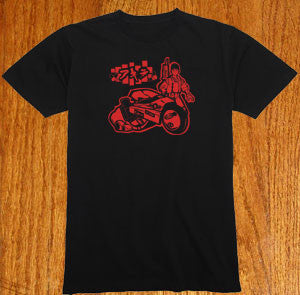 Custom Akira Kanda Bike tshirt Custom Drawn and Designed Shirt T-shirt tee Tshirt - Animetee - 1