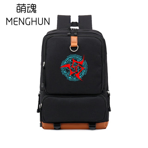 cool big nylon backpack Luminous logo Fate ZERO curse emblem logo printing FATE BACKPACK gift for anime fans SABER ARCHER NB086 MENGHUN Anime Store 2