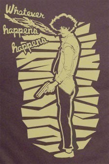 Cowboy Bebop Spike Spiegel Pose Whatever happens Shirt made to order by one otaku T-shirt tee Tshirt - Animetee - 2