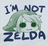 Custom Premium Legend of Zelda I'm Not Zelda Link Funny Nintendo Cute Shirt T-Shirt Tee - Animetee - 1