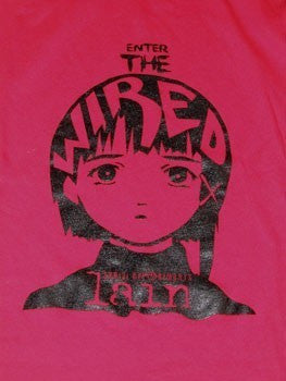 Serial Experiments Lain Enter the Wired Red Shirt T-shirt tee Tshirt - Animetee - 2