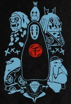 Spirited Away Various Characters NO Face T-shirt tee Tshirt - Animetee - 2