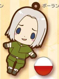 Officially Licensed Hetalia Axis Powers Poland Rubber Cell Phone Strap Licensed NEW - Animetee