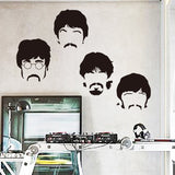 Art design cheap vinyl home decoration Beatles wall sticker cartoon removable house decor British musician wall decal in bedroom - Animetee - 1