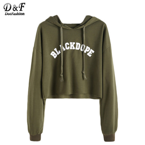 BlackDope Black Dope Hoodie Sweatshirt crop top cropped runway fashion trendy teens college ladies SQ12017 tqi