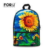 Flower Print School Bags For Girls Designer Teenage Floral Schoolbag Casual Children Bookbag Women Backbag - Animetee - 9