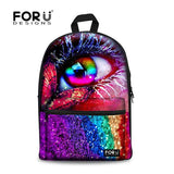 Flower Print School Bags For Girls Designer Teenage Floral Schoolbag Casual Children Bookbag Women Backbag - Animetee - 4