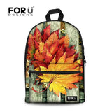 Flower Print School Bags For Girls Designer Teenage Floral Schoolbag Casual Children Bookbag Women Backbag - Animetee - 3