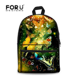 Flower Print School Bags For Girls Designer Teenage Floral Schoolbag Casual Children Bookbag Women Backbag - Animetee - 10