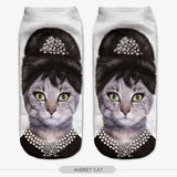 All over Print Cat Womens Casual Socks gift christmas birthday anniversary clueless cat look - Animetee - 4