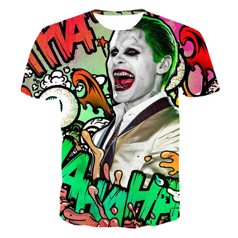 Suicide squad Harley Quinn joker deadshot male Rick Flag mens shirts Boomerang Suicide squad shirt tee t-shirt 80's hwd celebs - Animetee
