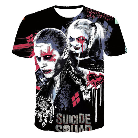 Suicide Squad Jared Leto Harley Quinn Joker shirt tee t-shirt 80's hwd celebs - Animetee