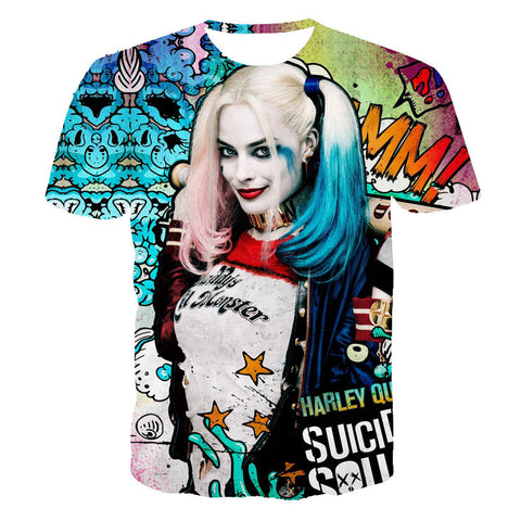 Suicide squad Harley Quinn All over print shirt tee t-shirt 80's hwd celebs - Animetee