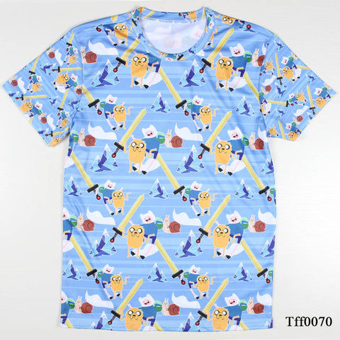 All over print Jake and Finn Adventure Time tee t-shirt tvi - Animetee