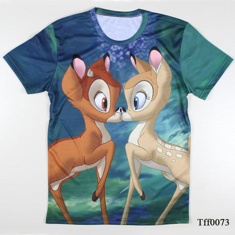 Bambi all over graphics kiss tee t-shirt hwd - Animetee