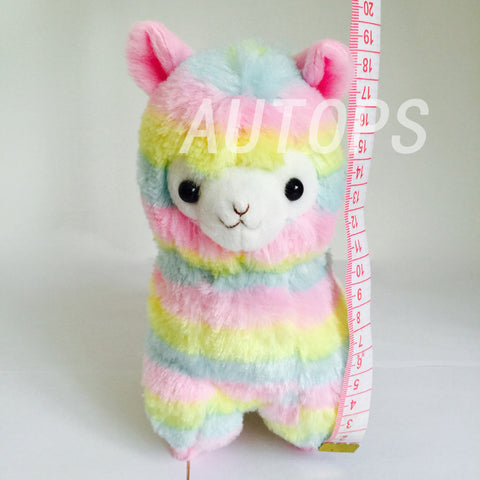 17cm  Rainbow 1* Alpaca Vicugna Pacos Plush Toy Japanese Soft Plush Alpacasso Baby Plush Stuffed Animals Alpaca Gifts