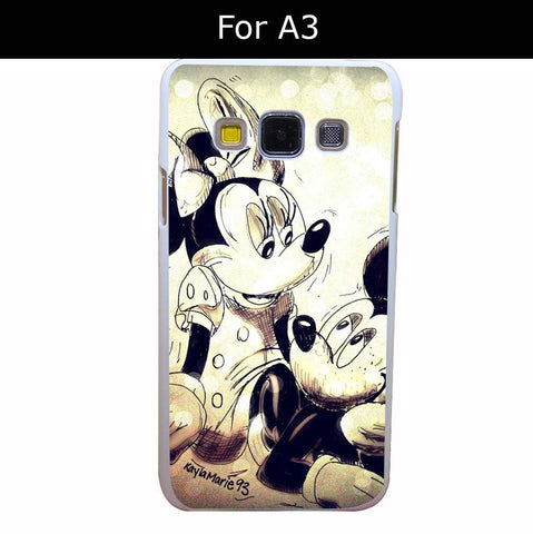 2876Qua Uz241054 Mickey Mouse And Minnie Style White Hard Back Cover for Samsung Galaxy A3 A5 A7 A8 E5 7 J5 J7 Grand 2 & Prime - Animetee - 6
