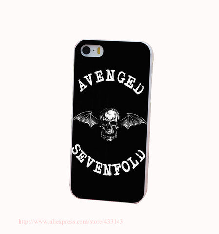 Avenged Of Sevenfold Hard White Cover Case for iPhone 4 4s 5 5s 5c 6 6s Protect Phone Cases msc - Animetee - 1