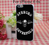 Avenged Of Sevenfold Hard White Cover Case for iPhone 4 4s 5 5s 5c 6 6s Protect Phone Cases msc - Animetee - 2