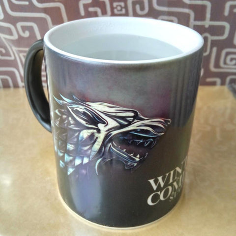 Winter Game of Thrones GOT  Stark Arryn Lannister Custom Cfee Mug Mugs Color Change Ceramic Cup Water fice milk Cups surprise gift AT_77_7