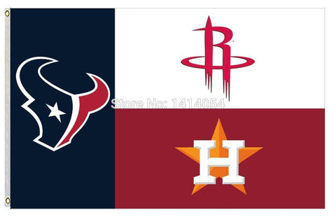 Houston State Fans Texans Rockets Astros  Flag 150X90CM  MLB 3x5 FT Banner 100D Polyester flag grommets 09, free shipping