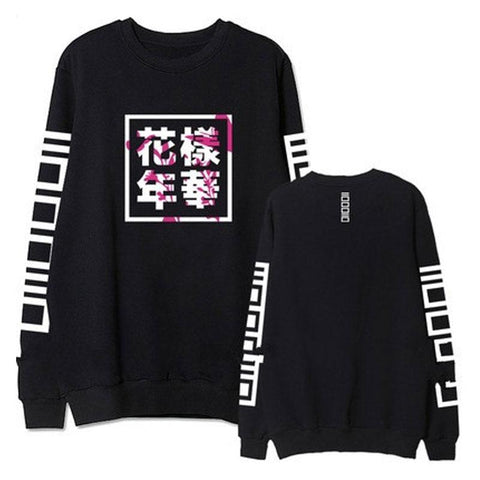 2017 Autumn BTS Young Forever Kpop Hoody Fashion Letter Printed Long Sleeve Hoodies Women Svitshot Harajuku Tracksuit Sweatshirt