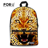 Cat Kitten Dog Owl Tiger Backpack Bag Full Color Funny animal teens youth college - Animetee - 10
