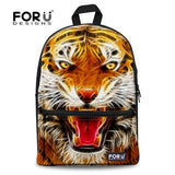 Cat Kitten Dog Owl Tiger Backpack Bag Full Color Funny animal teens youth college - Animetee - 9