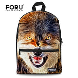Cat Kitten Dog Owl Tiger Backpack Bag Full Color Funny animal teens youth college - Animetee - 8