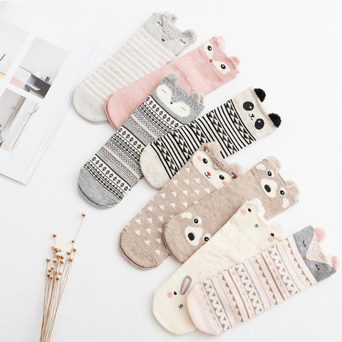 2016 New Lovely Cartoon Women Socks High Quality Cotton Sox Japanese Fashion Style Socks Autumn Winter Warm Socks For lady Girls