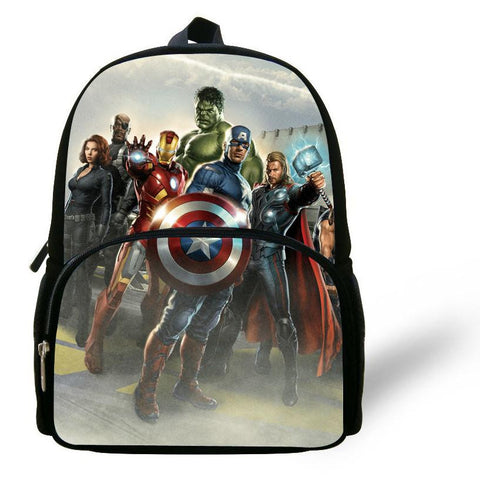 12 inch Mochila Captain America Backpack Kids School Bags For Boys Avengers Bag Hulk Ironman Backpack Child Mochilas Infantis
