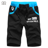 2016 New Summer Mens Moletom Masculino Shorts 5XL Pocket Men's Shorts Elastic Waist Letter Emboridary Men Jogger Beach Shorts