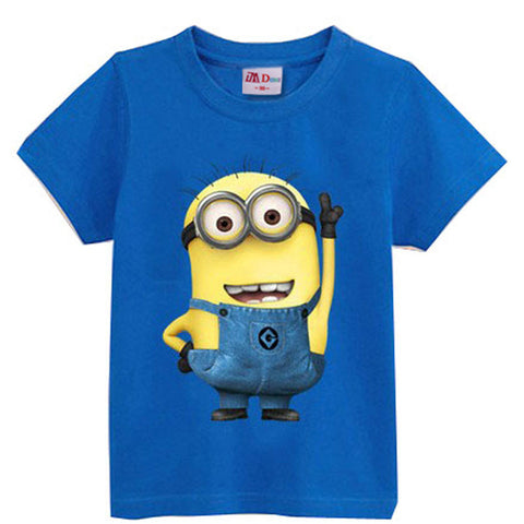 Kids Girls Boys Despicable me Minions Tee T-Shirt Large print Child Childrens Animation Movie - Animetee - 9