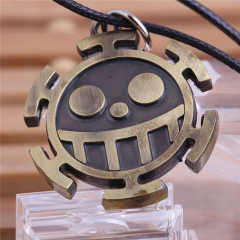 2015 The Famous Anime One piece Heart Pirates Colonel Trafalgar Law Boys Jewelry Pirate Logo Pendant Necklace Free Shipping - Animetee - 1