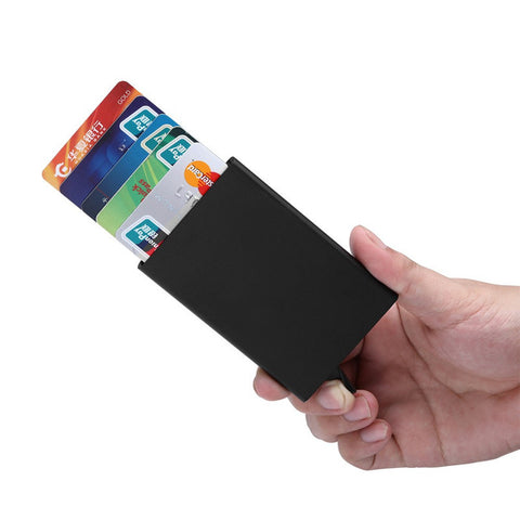 Slim thin business card case pu alloy bank credit card package slim thin business card case pu alloy bank credit card package credit card holder card reheart Images